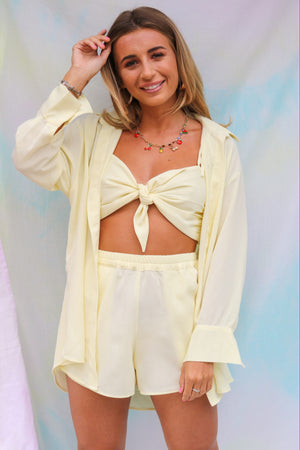Dani Dyer Never Ending Summer Crop Top Lemon