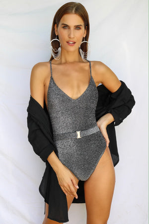 Aries Glitter Swimsuit Black