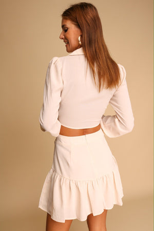 Miss Independent Top & Skort Co-ord Cream
