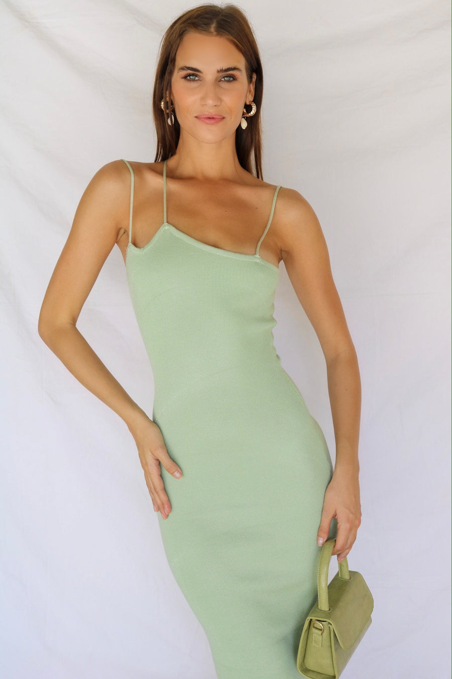 Never Looked Better Knitted Midi Dress Sage