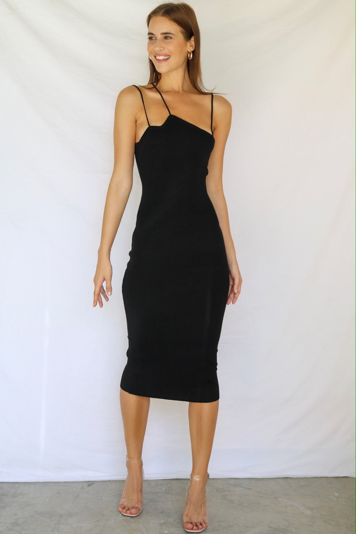 Never Looked Better Knitted Midi Dress Black