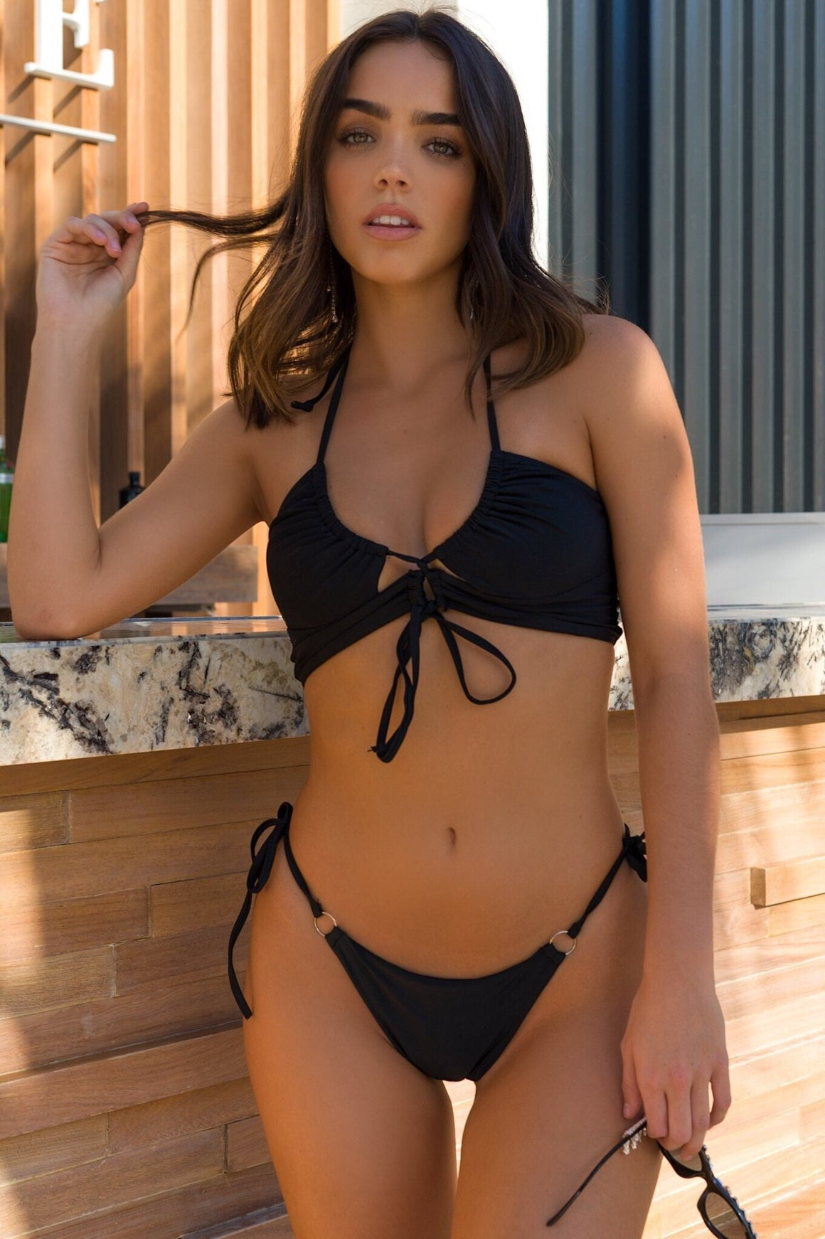 Jamaica Cut Out Bikini Black