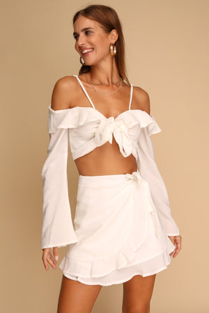 Natalie Top & Skirt Co-ord White