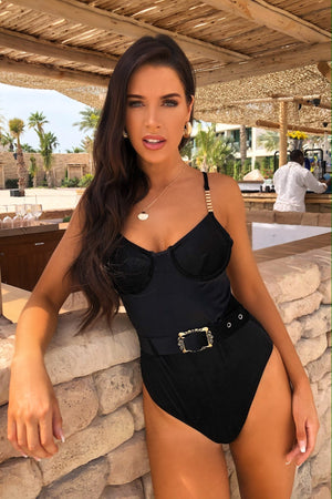 Bexley Velvet Swimsuit Black