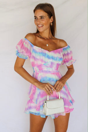 Head In The Clouds Playsuit Pink