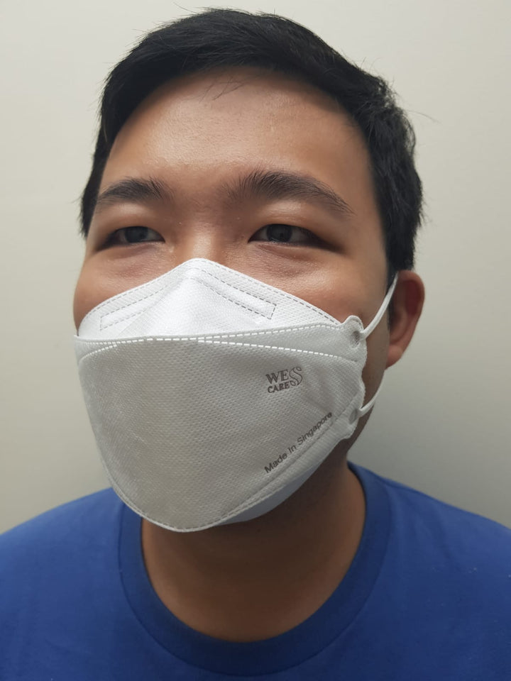1Pc | 3D Premium Face Mask (KF94 Design) | Made In Singapore | BFE 99.9% UV Sterilised