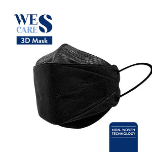 3D Premium Face Mask Black Edition [20Pc] (KF94 Design) | Made In Singapore | BFE 99.9% UV Sterilised