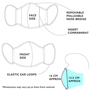 Japan Cotton Mask - Geometry | Made in Singapore
