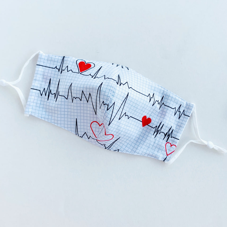 Japan Cotton Mask - Heartbeat | Made in Singapore