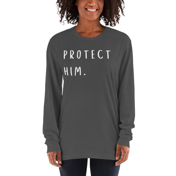 Protect Him Long sleeve t-shirt - CocoCreamCo