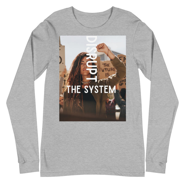 Disrupt The System Unisex Long Sleeve Tee - CocoCreamCo