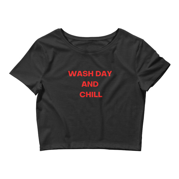 Wash Day And Chill Women's Crop Tee - CocoCreamCo