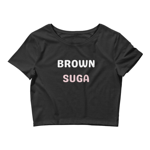 Brown Suga Women's Crop Tee - CocoCreamCo