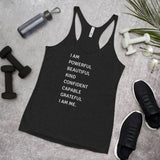 I Am Me Women's Racerback Tank - CocoCreamCo
