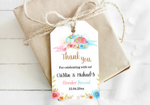 Editable Pumpkin Thank You Tags | Fall Gender Reveal Favor Tags - 30A