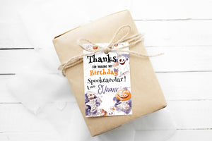 Editable Halloween Birthday Thank You Tags | Halloween Themed Party Favor Tags - 31A