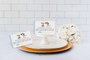 Farm Diaper Raffle Sign and Ticket Card | Barnyard Gender Reveal - Baby Shower Game Printable - 11D