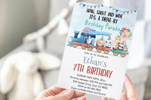 Editable Drive By Safari Birthday Invitation | Jungle Theme Party Invite - 31