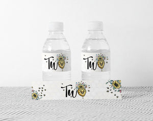 Bee 2nd Birthday Water Bottle Labels | Bumble Bee Theme Party - 61A