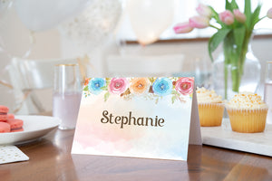 EDITABLE Pumpkin Place Cards | Fall Theme Food Label Tents Printable - 30A