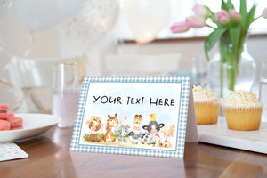 EDITABLE Farm Place Cards | Farm Theme Food Label Printable - 11C