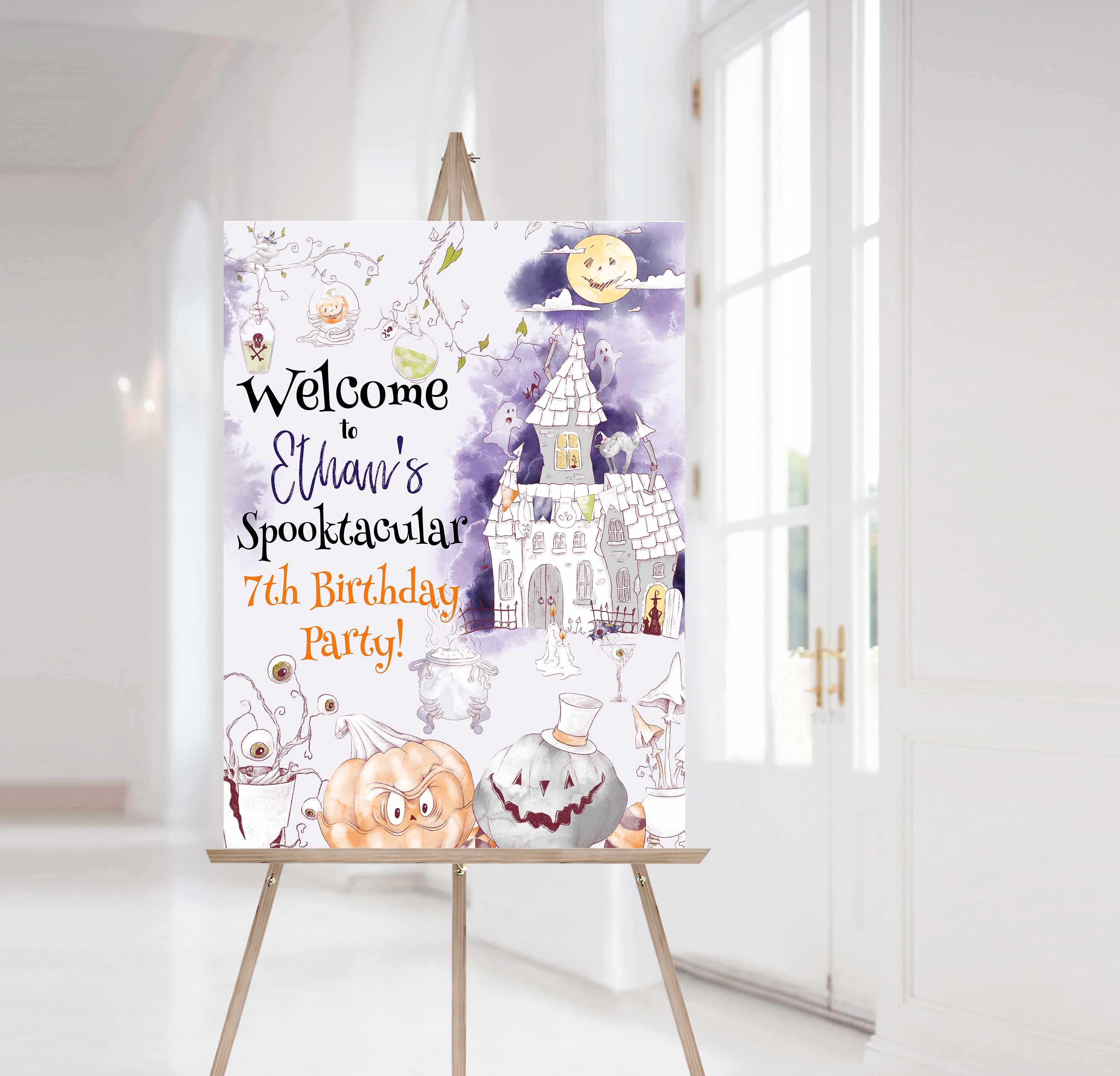 Halloween Editable Welcome Sign -31