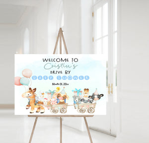 Editable Farm Drive By Baby Shower Welcome Sign | Farm theme shower decorations - 11C