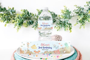 Editable Submarine Water Bottle Labels | Under the Sea Themed Birthday Party Printable - 44Ab