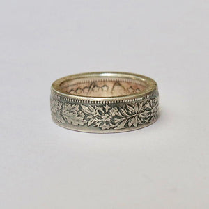 Swiss 2 francs handmade silver coin reform ring