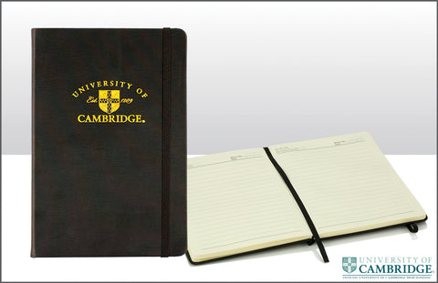 Cambridge University Notebook - College Shield (Black)
