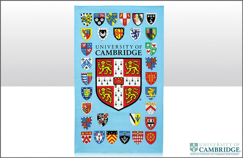 Cambridge University College Shields Tea Towel
