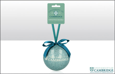 Cambridge University Glitter Bauble