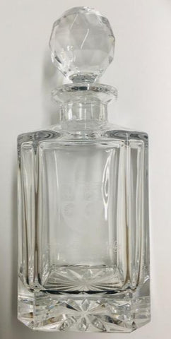 King's College Crest Glass Decanter
