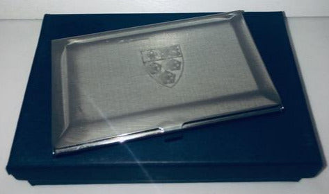 Silver Card Holder featuring King's Crest