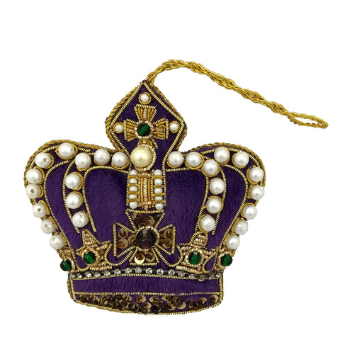 Pearl Crown Purple decoration