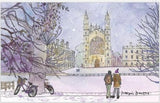 "Naomi Davies ""Snowy King's""  Tea Towel"