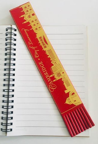 Cambridge Skyline Leather Bookmark