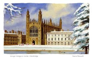 "10x12"" Mounted Print: King's College in Winter"