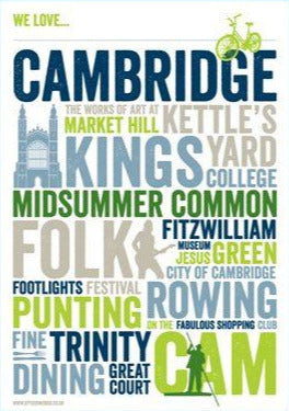 We Love Cambridge Print
