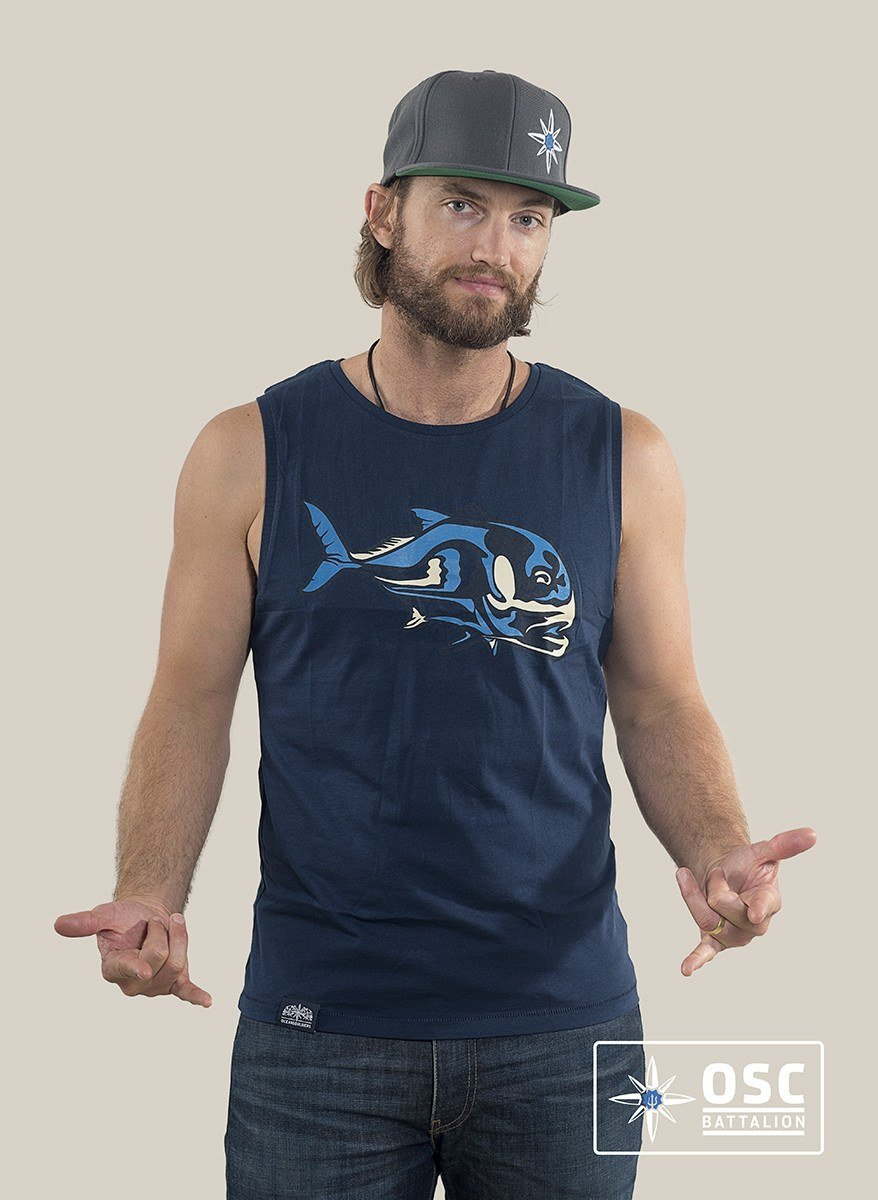 T-Shirts - OSC-Caranx Sleeveless T-Shirts