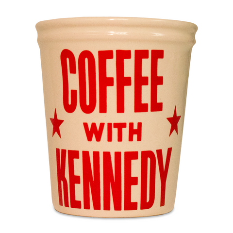 """Coffee with Kennedy"" ceramic cup"