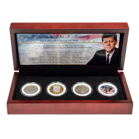 JFK Four Coin Collection