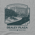 Dealey Plaza National Historic Landmark T-Shirt in Adult sizes