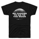 """We Choose to go to the Moon"" Kennedy black t-shirt"