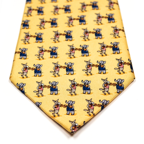 Silk Tie | Donkey vs. Elephant
