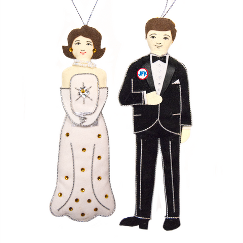 Gala JFK and Jackie Ornament set from St. Nicolas