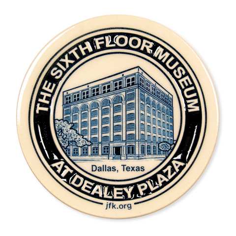 Handmade pottery coaster/paperweight, made exclusively for The Sixth Floor Museum at Dealey Plaza