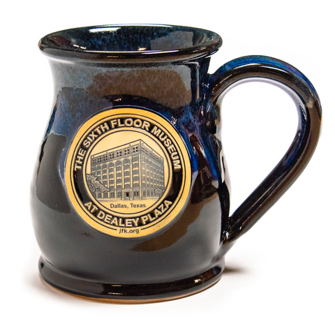 Handmade pottery mug, made exclusively for The Sixth Floor Museum at Dealey Plaza