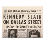 The Dallas Morning News, 11.23.63, newspaper reprint