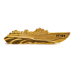 PT-109 lapel pin and tie-clip